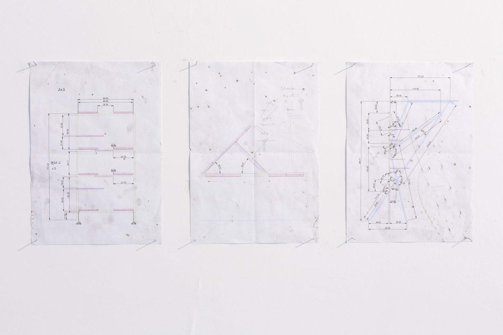 Daniel Nehring Zeichnung O.T._Konstruktionszeichnung