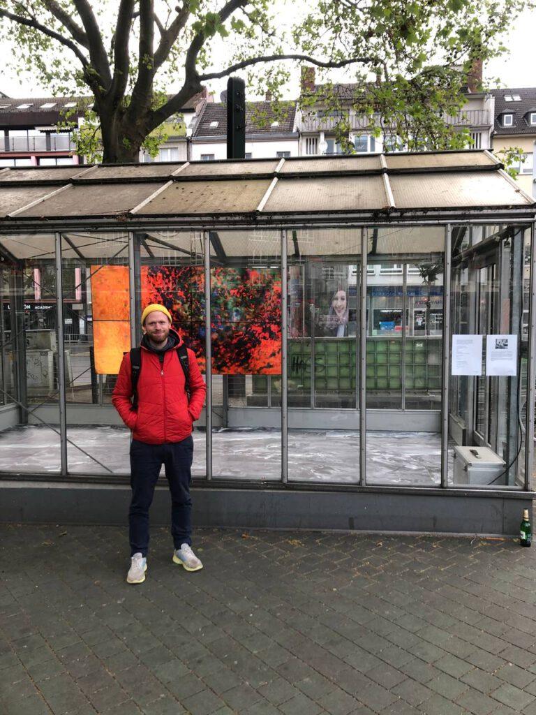 """Daniel Nehring - """"Rauschen"""", Kunstwerk, Installation, Ausstellung, Palace, www.palace-worringerplatz.de"""